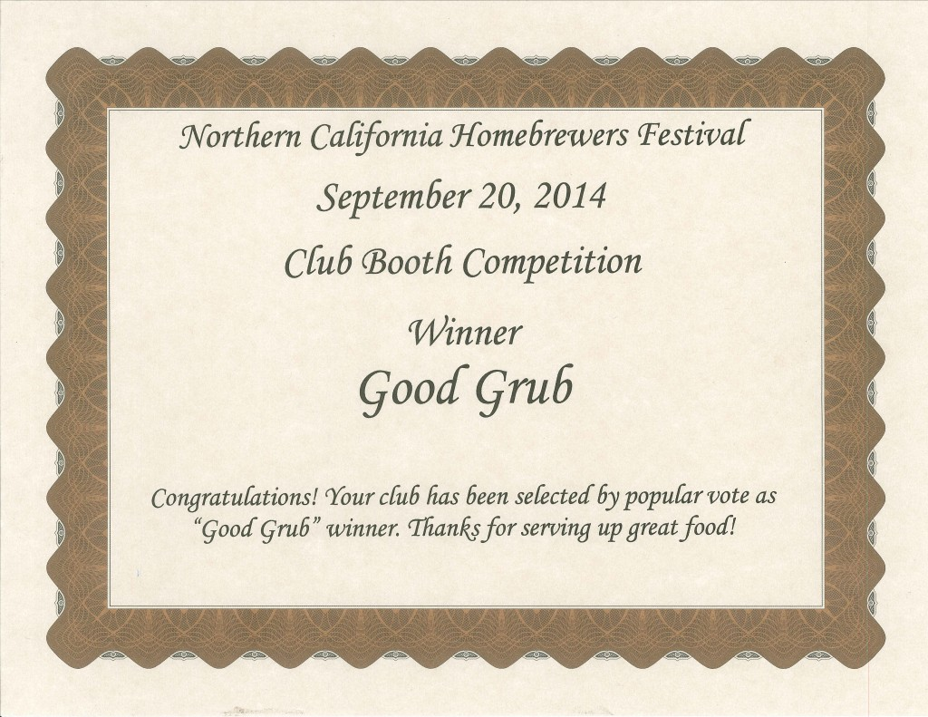 NCHF 2014 Bay Area Mashers Winner Good Grub
