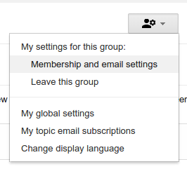 Google Groups Membership and Email Settings